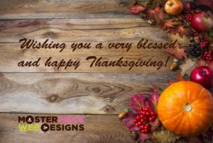 Happy Thanksgiving from Masterpiece Web Designs!